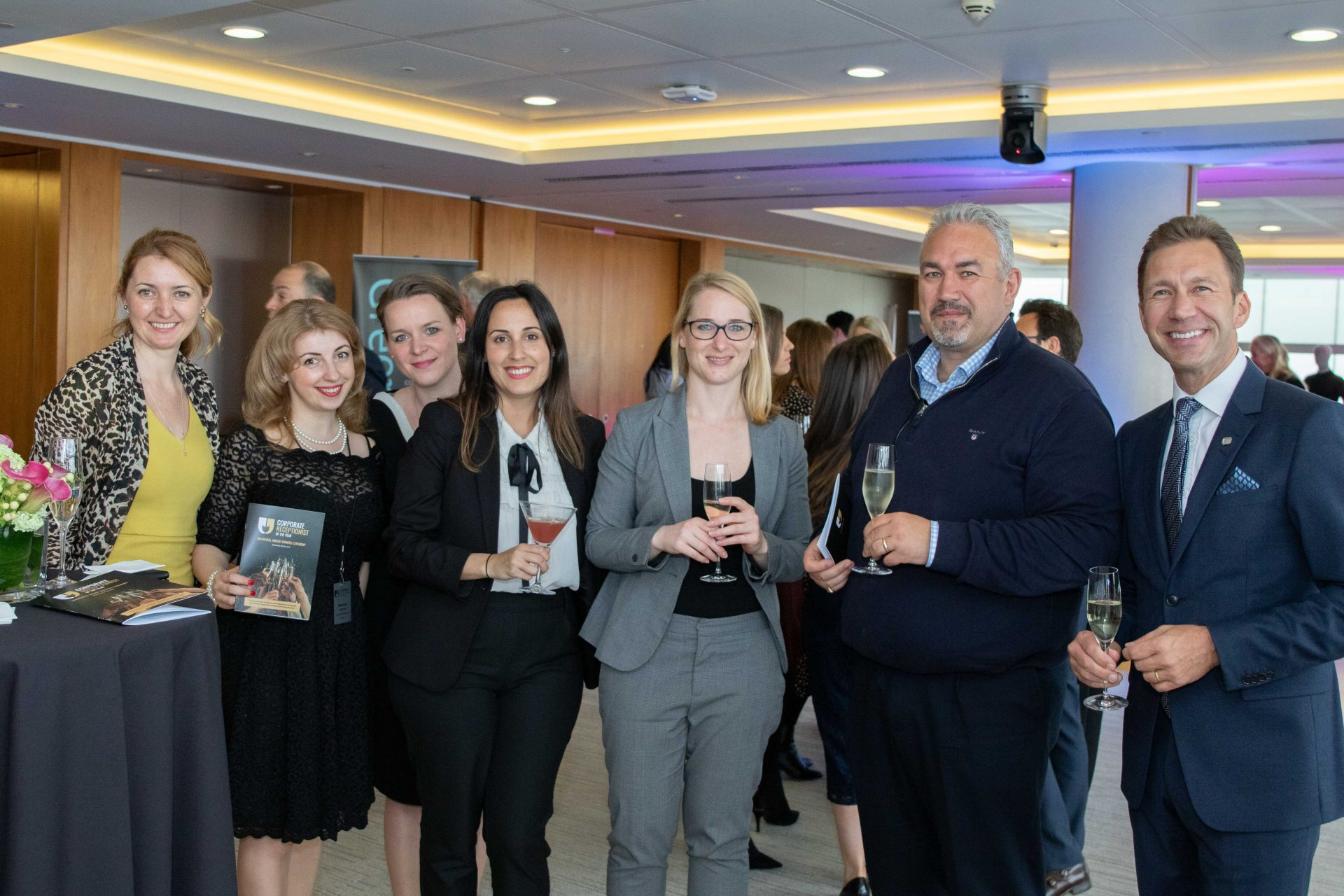 Corporate receptionist of the year reward ceremony 2019 smiling attendees